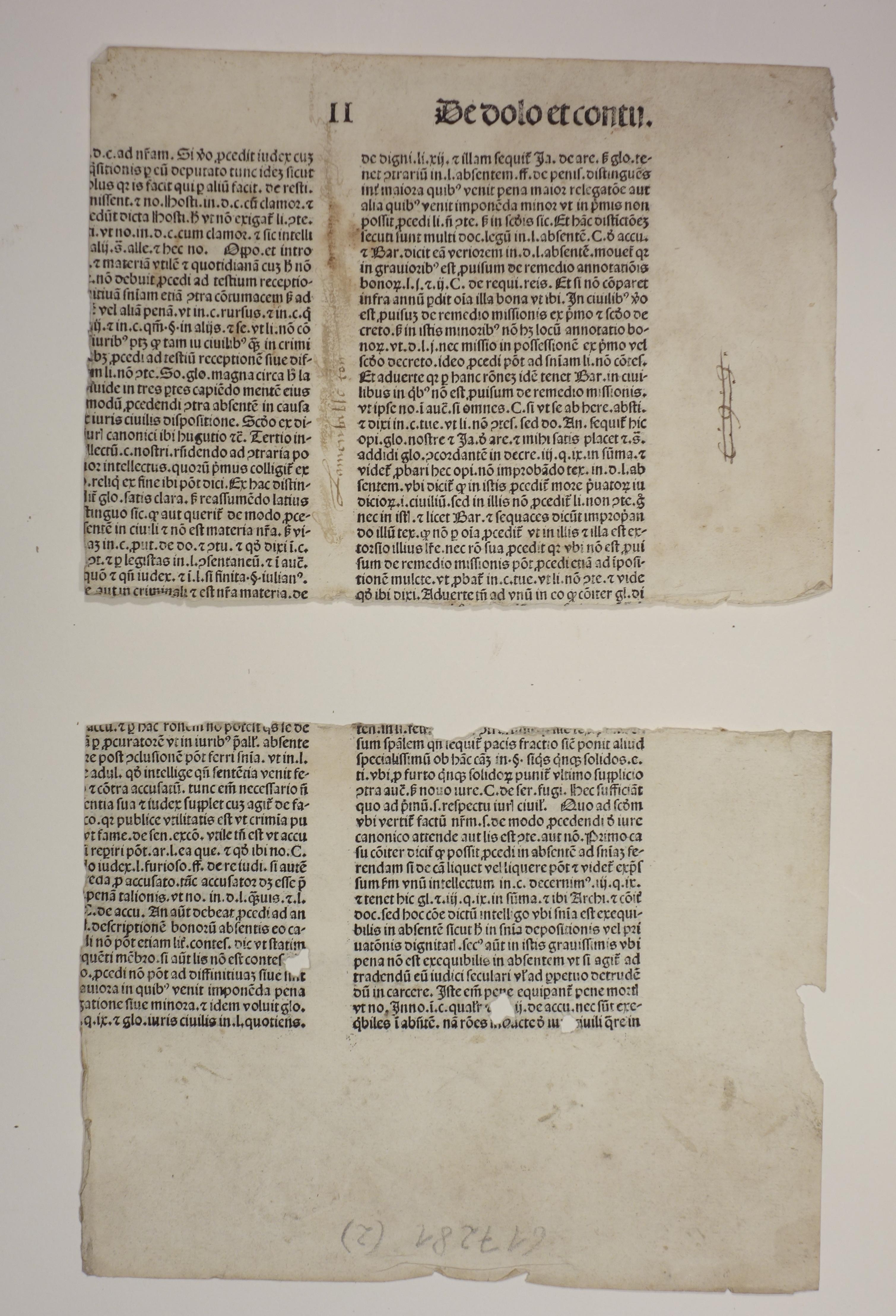 Super libros Decretalium II. pars 1 (GWM: Nicolaus de Tudeschis: