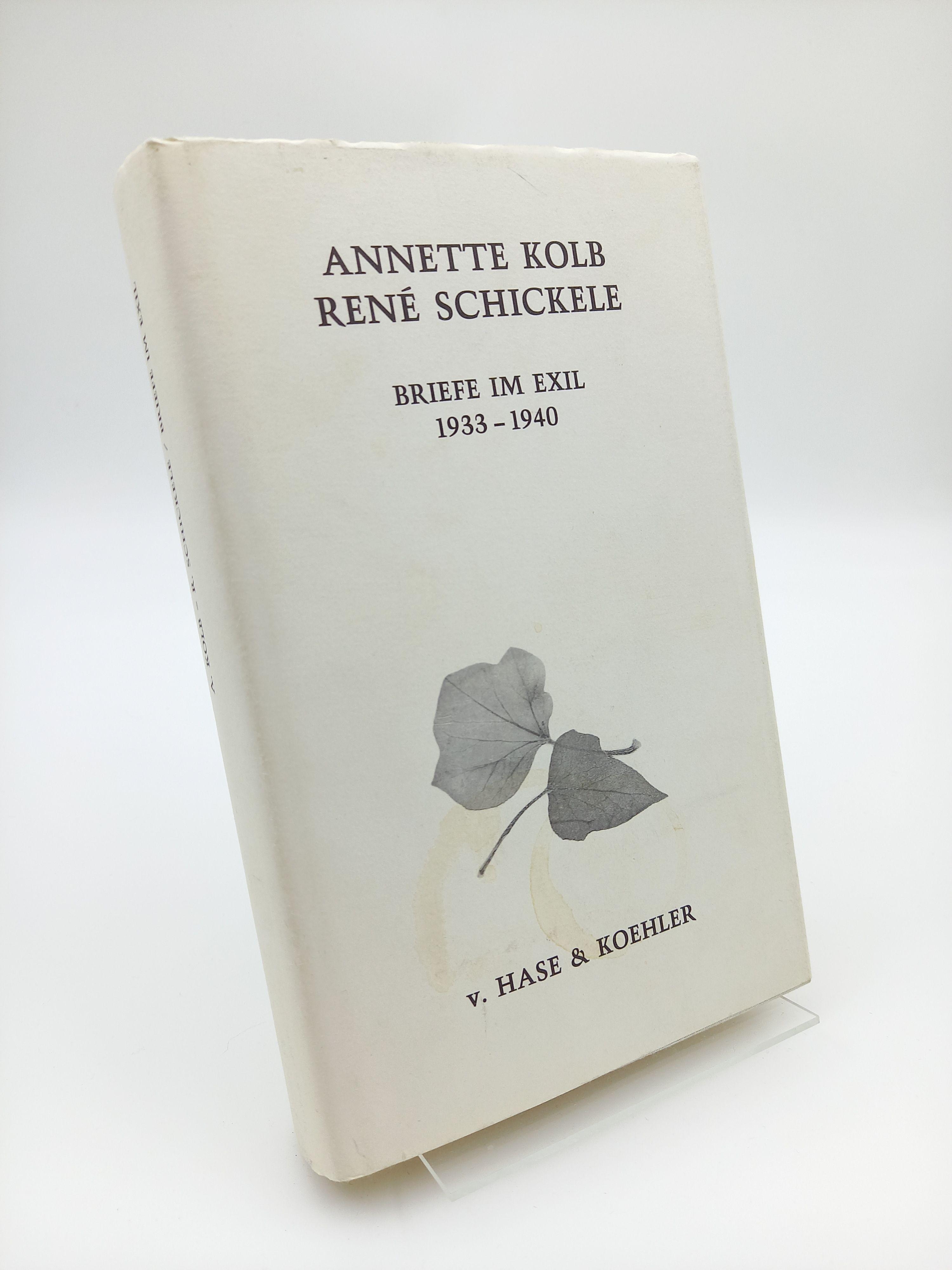 Briefe im Exil 1933-1940.: Kolb, Annette /