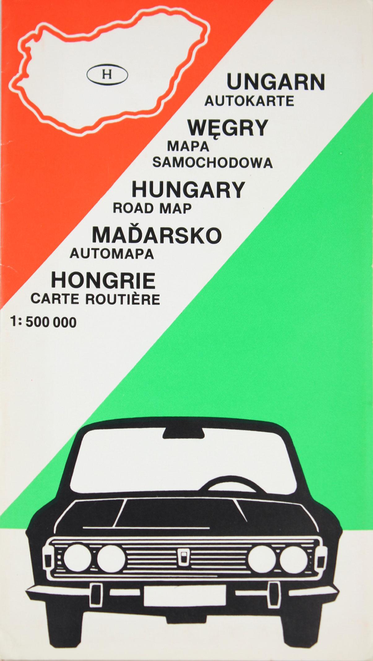 Autokarte Ungarn,
