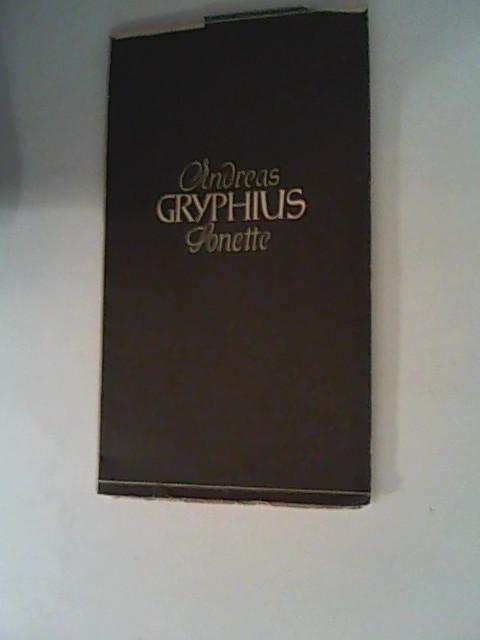 Sonette.: Gryphius, Andreas: