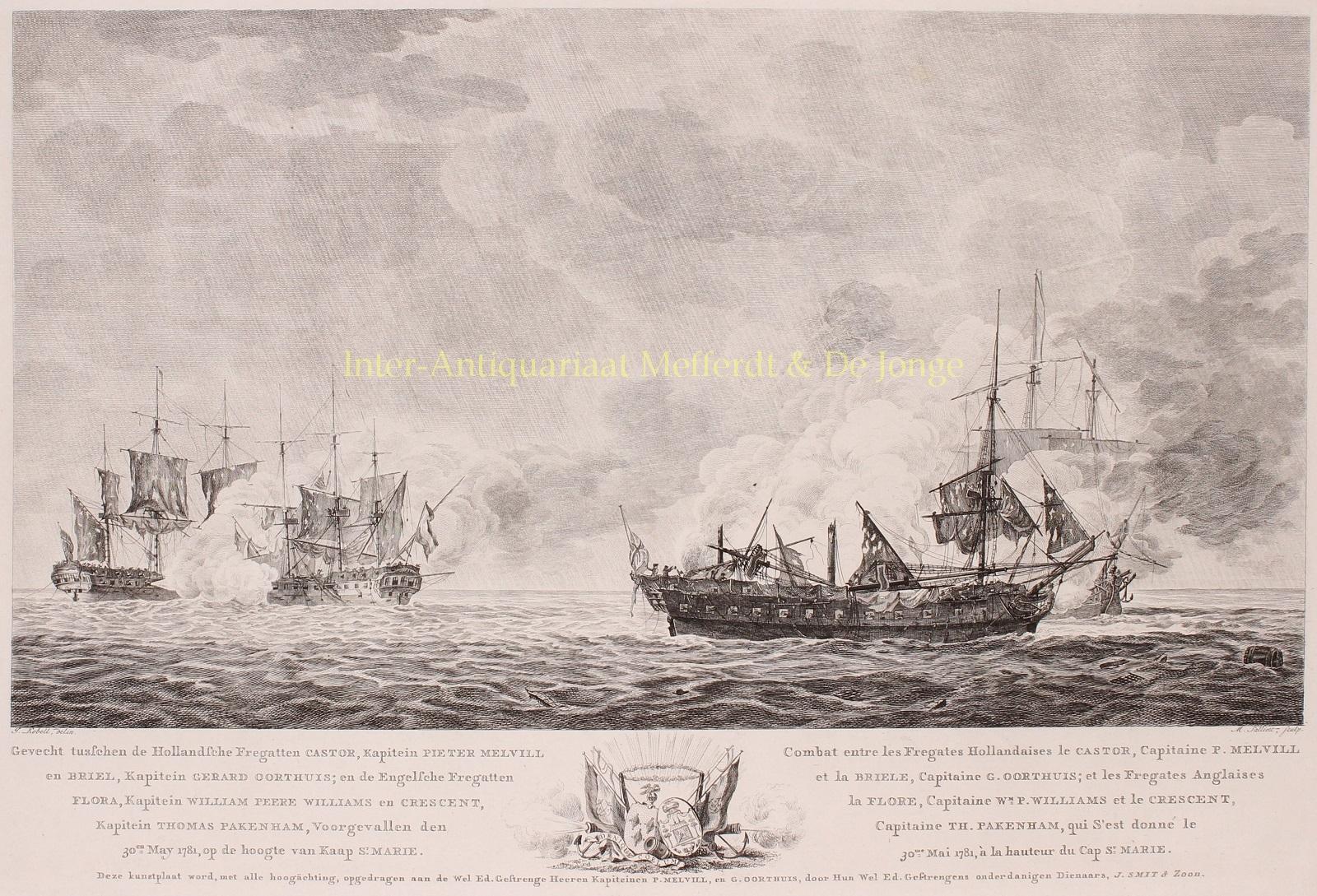 Gevecht tusschen de Hollandsche Fregatten Castor, Kapitein: Battle of Cape