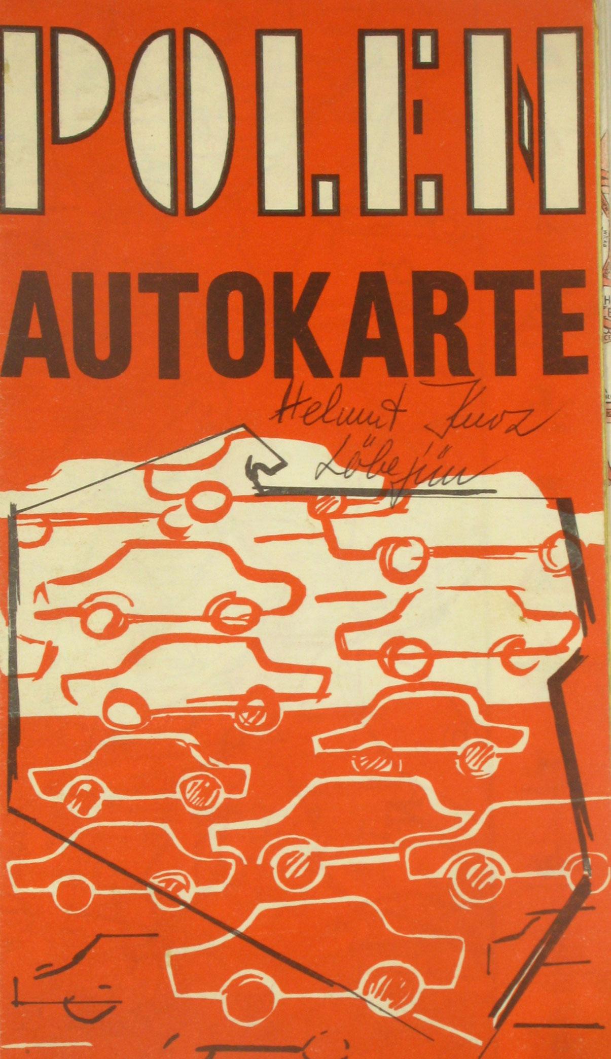 Autokarte Polen,: Bad. topogr. Bureau