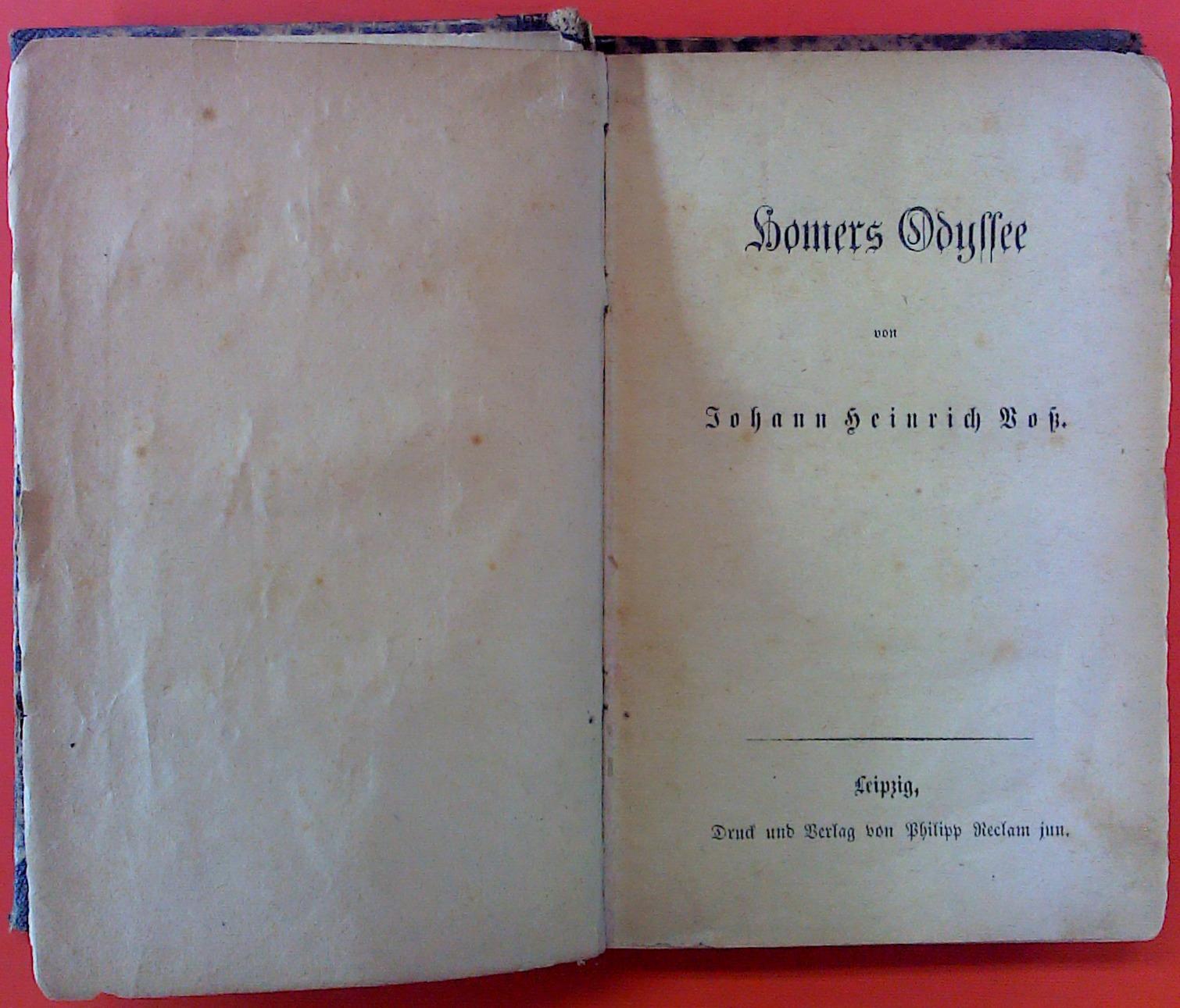 Homers Odyssee: Johann Heinrich Voss