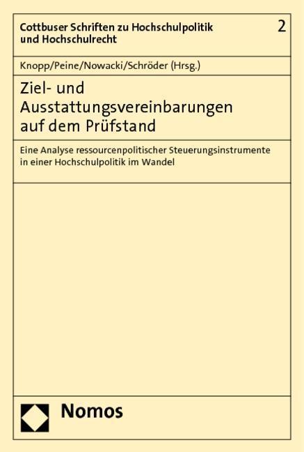 Ziel- und Ausstattungsvereinbarungen auf dem Prüfstand - Knopp, Lothar