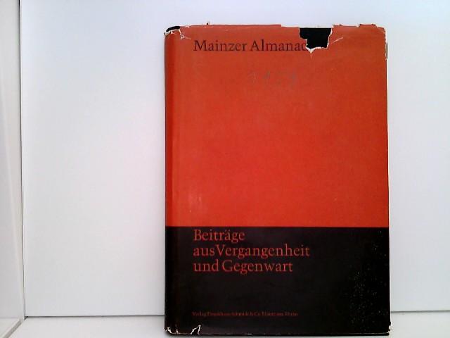 Mainzer Almanach 1959: Beiträge aus Vergangenheit und: Geßner, Adolf und