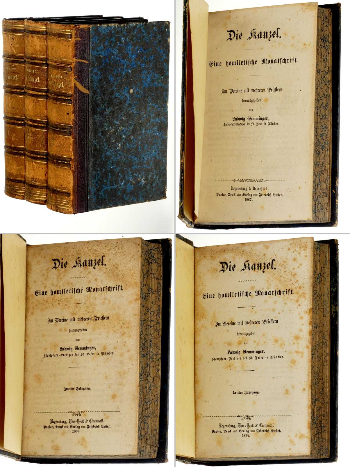Die Kanzel. Eine homiletische Monatschrift. Jahrgang 1-3: Gemminger, Ludwig (Hg.):
