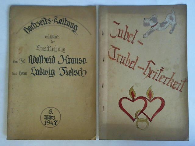Hochzeits-Zeitung anläßlich der Eheschließung von Frl. Adelheid: Hochzeits-Zeitungen)