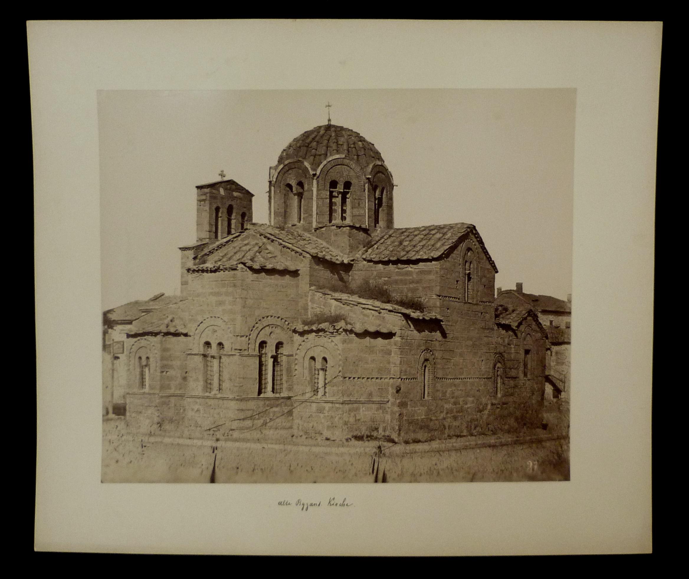 Hs. beschriftet: Alte Byzant. Kirche. Originalfotografie (21,3x25,7: Originalfotografien - Griechenland.