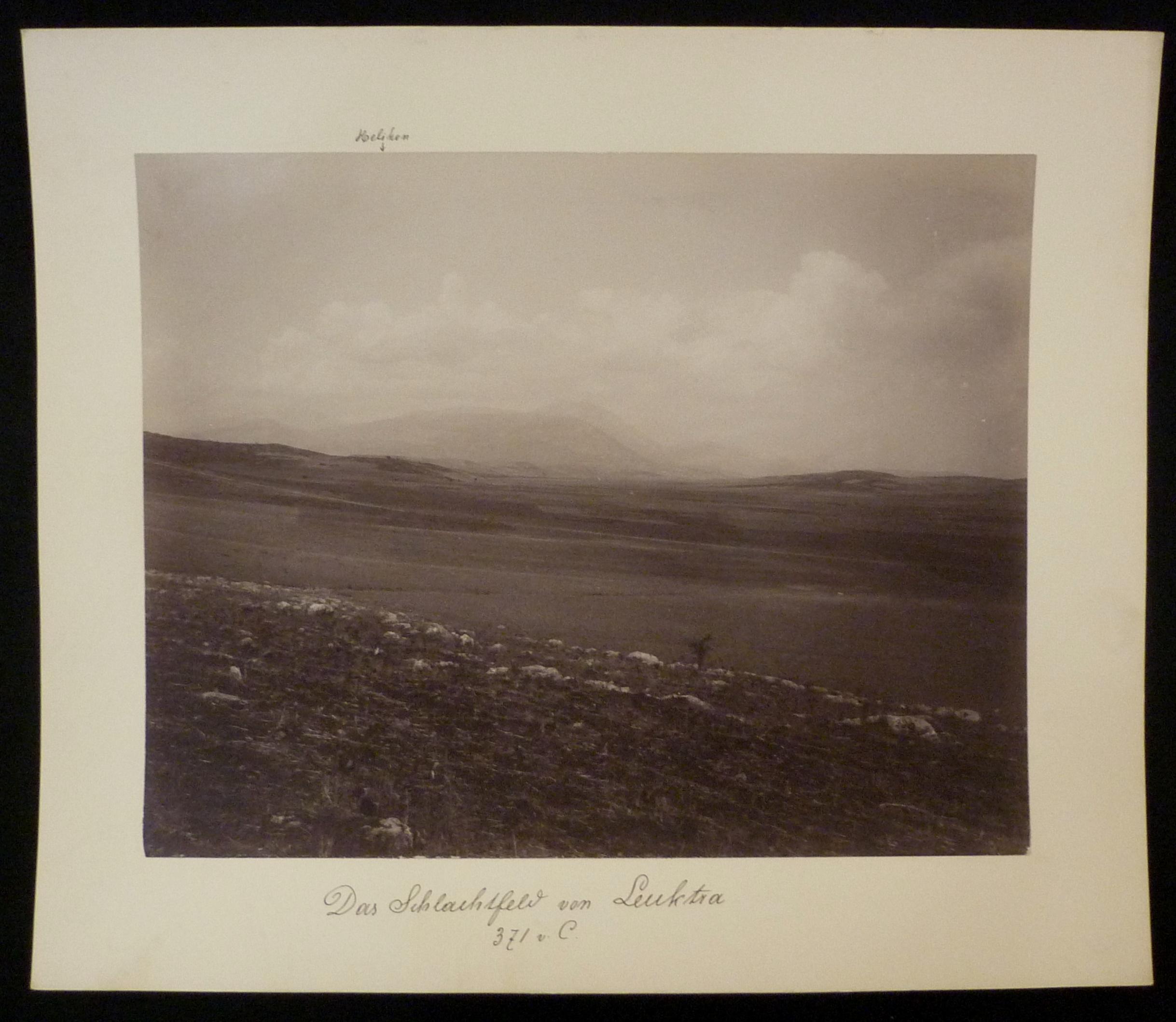 Hs. beschriftet: Das Schlachtfeld von Leuktra 371: Originalfotografien - Griechenland.