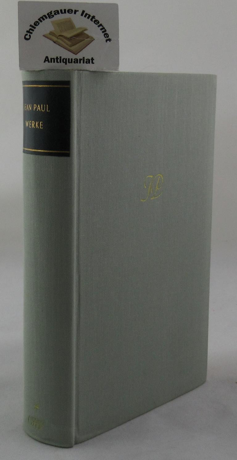 Jean Paul. Werke in drei Bänden. HIER: Miller , Norbert