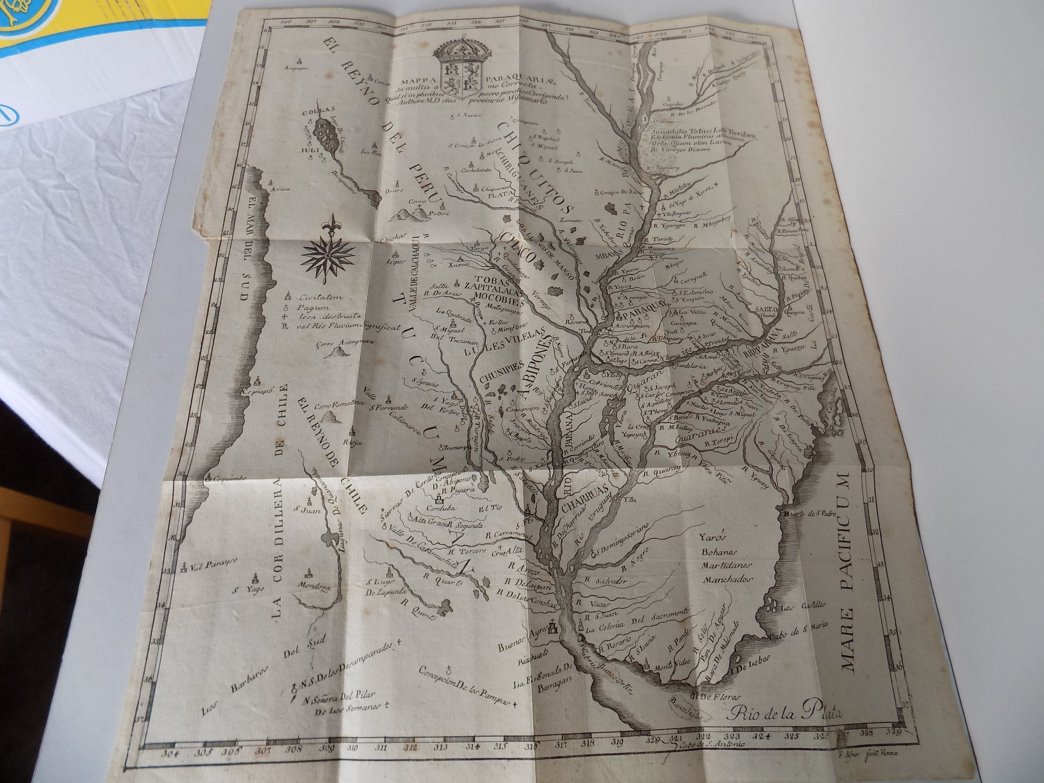 Paraguay:] Mappa Paraquariae. In multis a me: Dobrizhoffer, Martin (hier