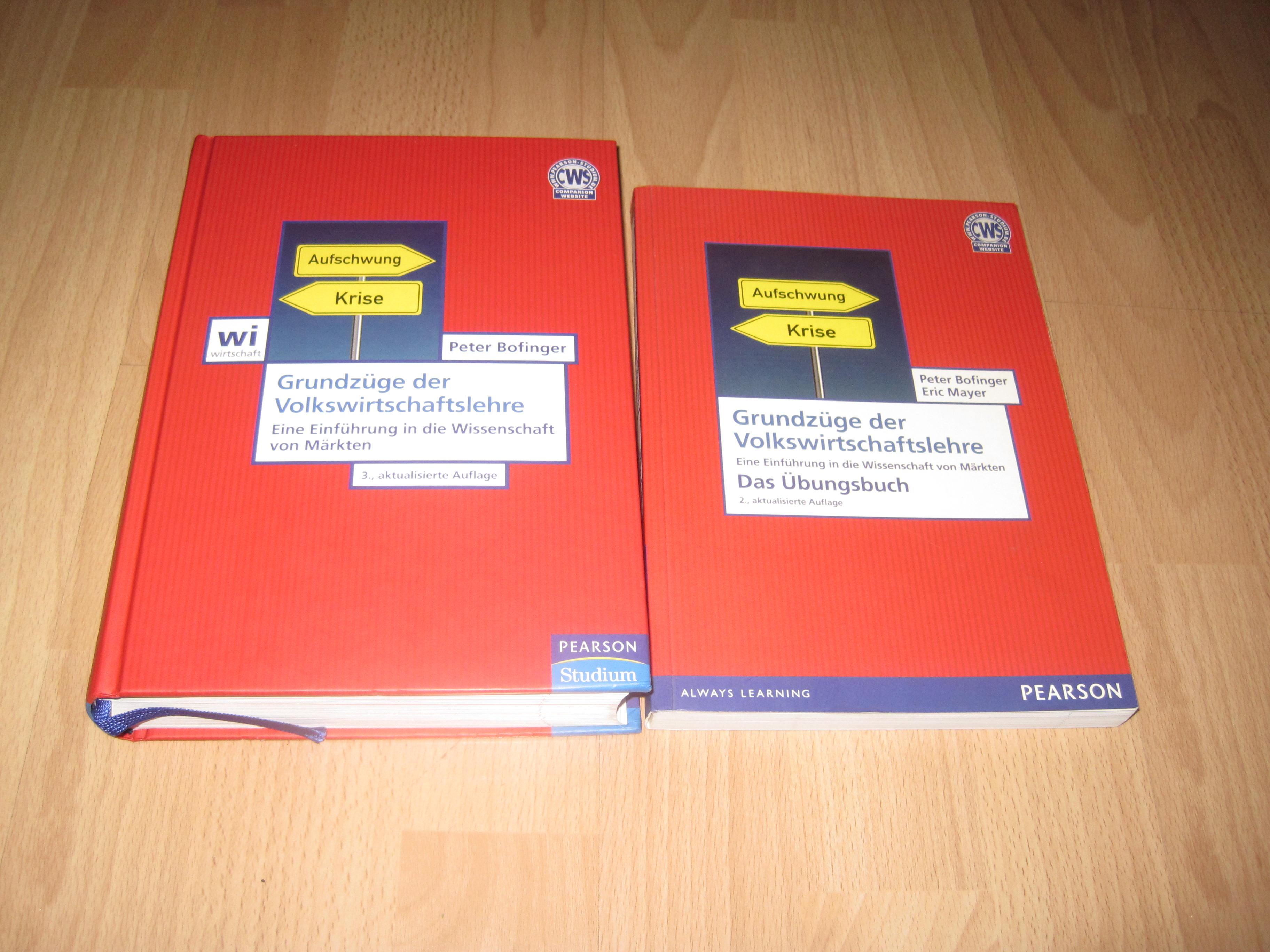 Peter Bofinger, Grundzüge der Volkswirtschaftslehre - Lehrbuch + Übungsbuch / Set / Bundle - Bofinger, Peter