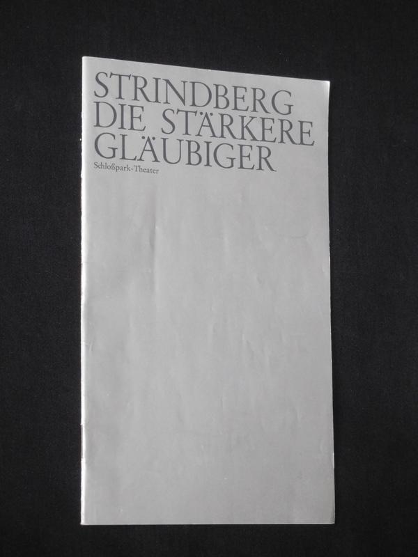 Programmheft 41 Schloßpark-Theater Berlin 1974/75. DIE STÄRKERE: Staatliche Schauspielbühnen Berlin,