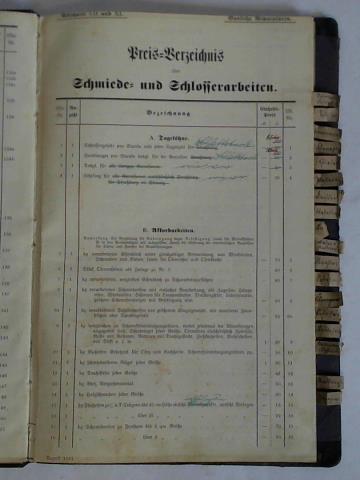 Preis- und Lohnverzeichnis. Ausführliche, teils gedruckte, teils: Schlettstadt (Elsaß-Lothringen) -