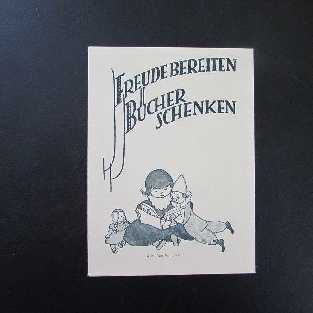 Freude bereiten - Bücher schenken (Werbezettel): Herausgeber nicht ersichtlich: