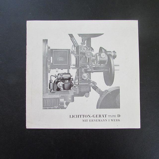 Lichtton-Gerät Type D mit Hahn I Werk: Herausgeber nicht ersichtlich: