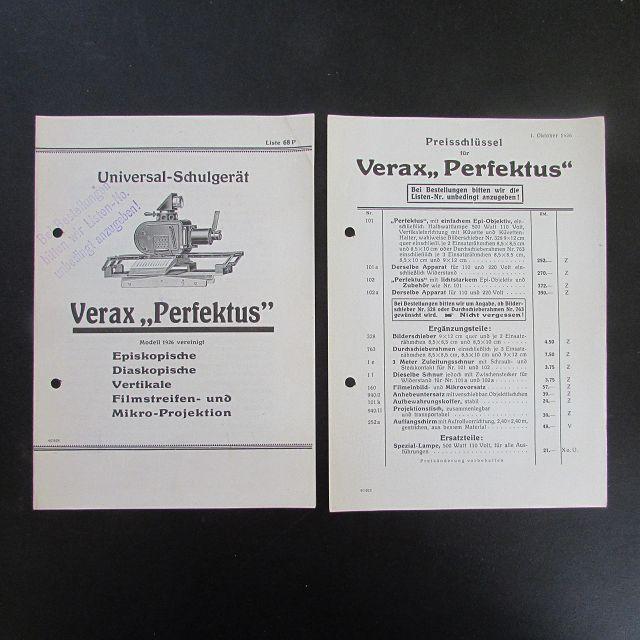 """Universal-Schulgerät - Verax """"Perfektus"""" (Modell 1926 vereinigt: Herausgeber nicht ersichtlich:"""