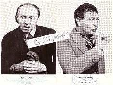 WOLFGANG NEUSS (1923-89) dt. Kabarettist, Schauspieler; WOLFGANG: WOLFGANG NEUSS (1923-89)