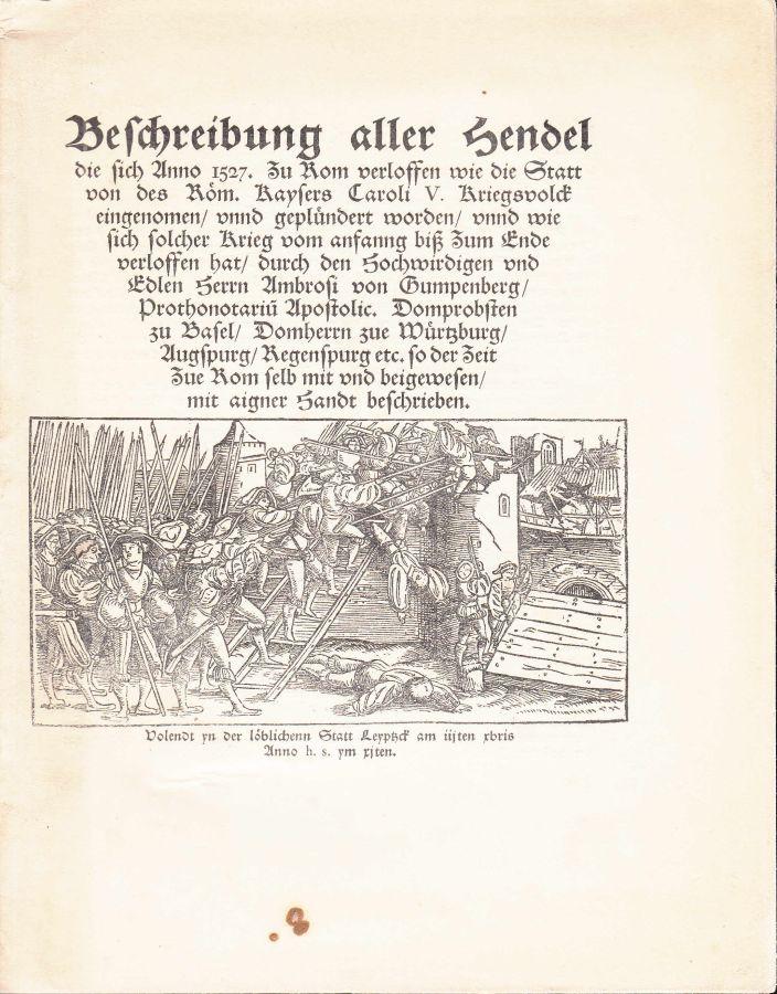 Beschreibung aller Hendel die sich anno 1527: Gumpenberg, Ambrosius: