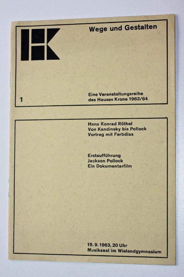 Von Kandinsky bis Pollock: Vortrag mit Farbdias.: Pollock, Jackson