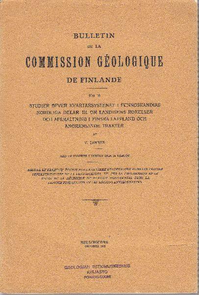 Studier över Kvartärsystemet i Fennoskandias nordliga Delar: Tanner, V.:
