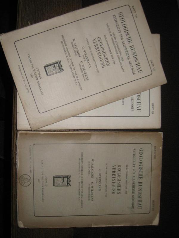 Geologische Rundschau. Siebenter (VII) Band 1916 und: Geologische Rundschau. -