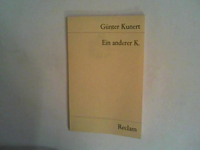 Ein anderer K. Hörspiel: Kunert, Günter: