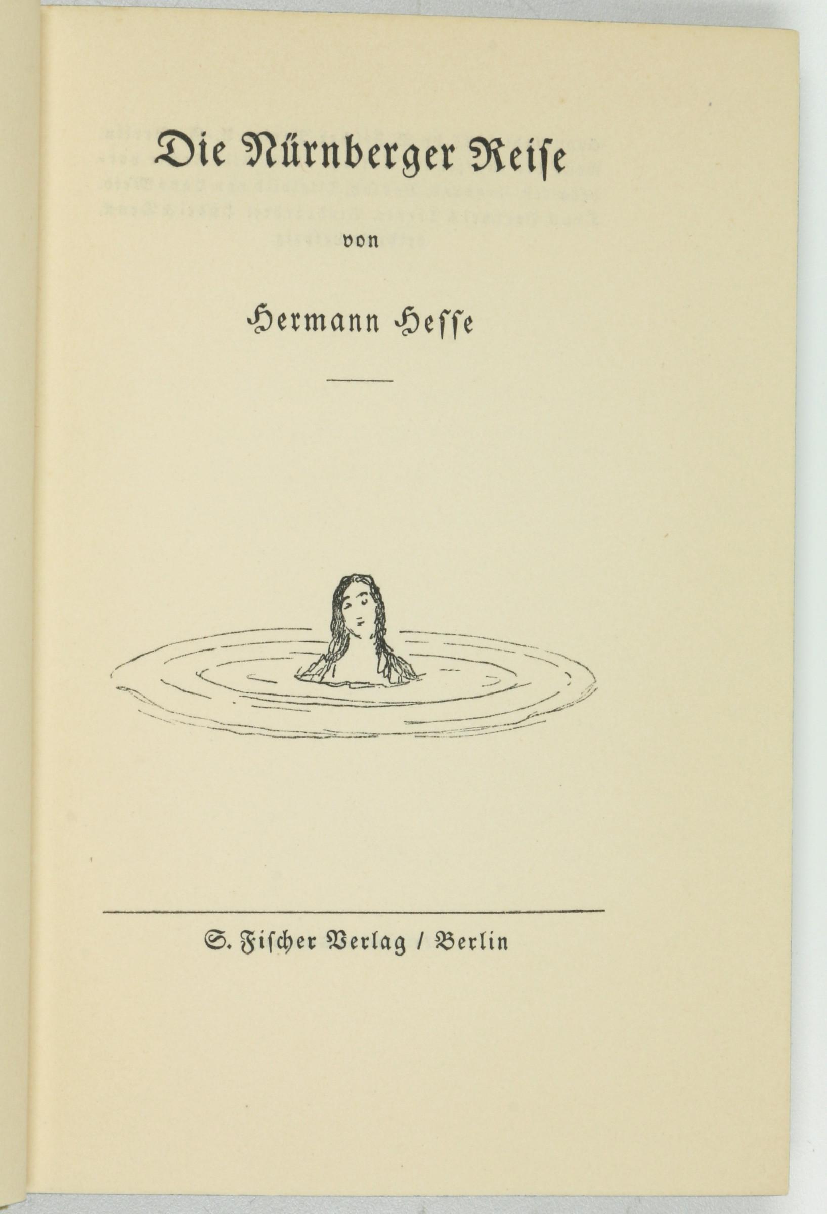 Die Nürnberger Reise. 1. Auflage.: Hesse, Hermann.
