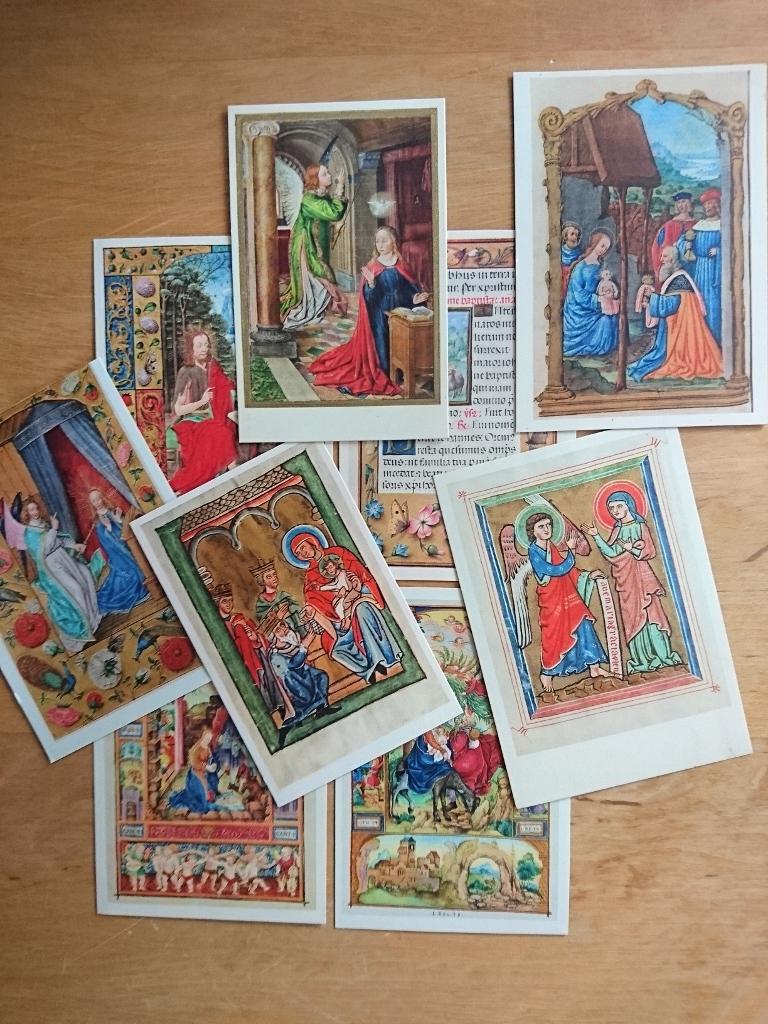 9 Ansichtskarten - Gebetbuch, Stundenbuch, Psalter .