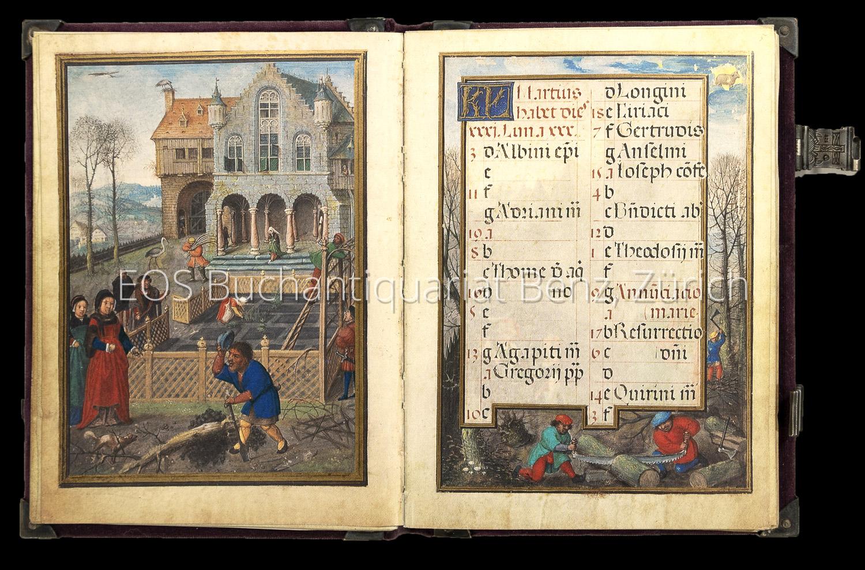 Flämischer Kalender. Clm 23 638, Bayerische Staatsbibliothek,: Flemish Calendar. Calendrier