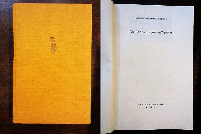 Die Leiden des jungen Werther: Goethe, Johann Wolfgang