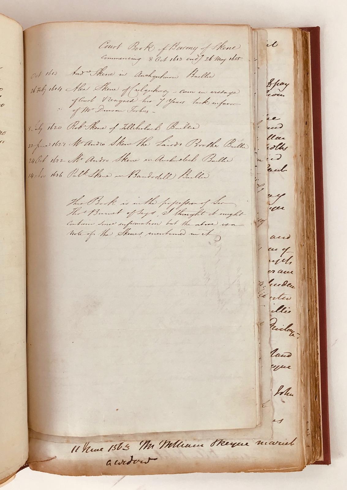 Memorials of the Family of Skene [manuscript]: William Forbes Skene