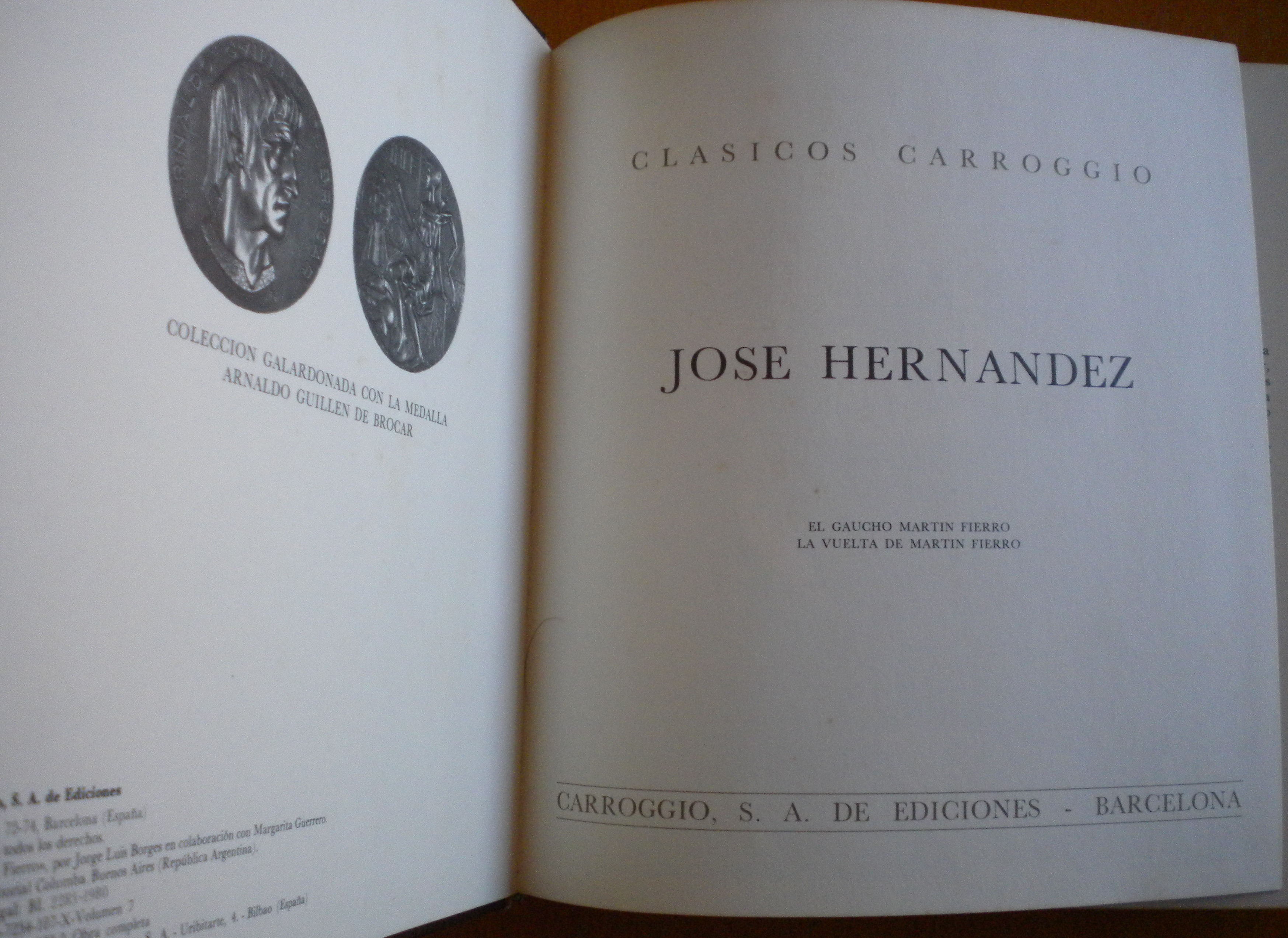 José Hernández El Gaucho Martin Fierro Y La Vuelta De Martin Fierro Abebooks