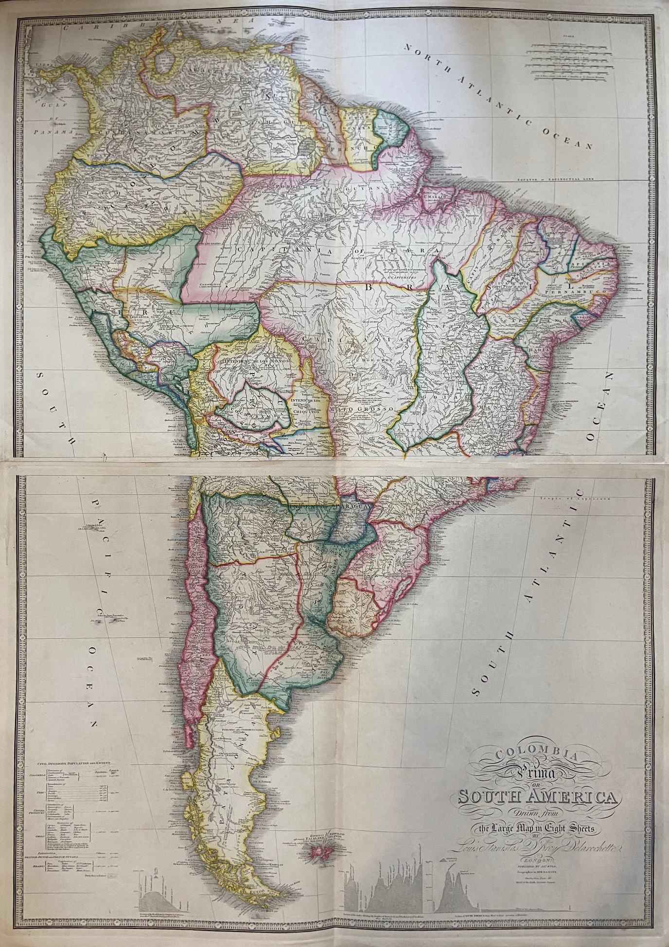 Colombia Prima or South America drawn from: WYLD, James
