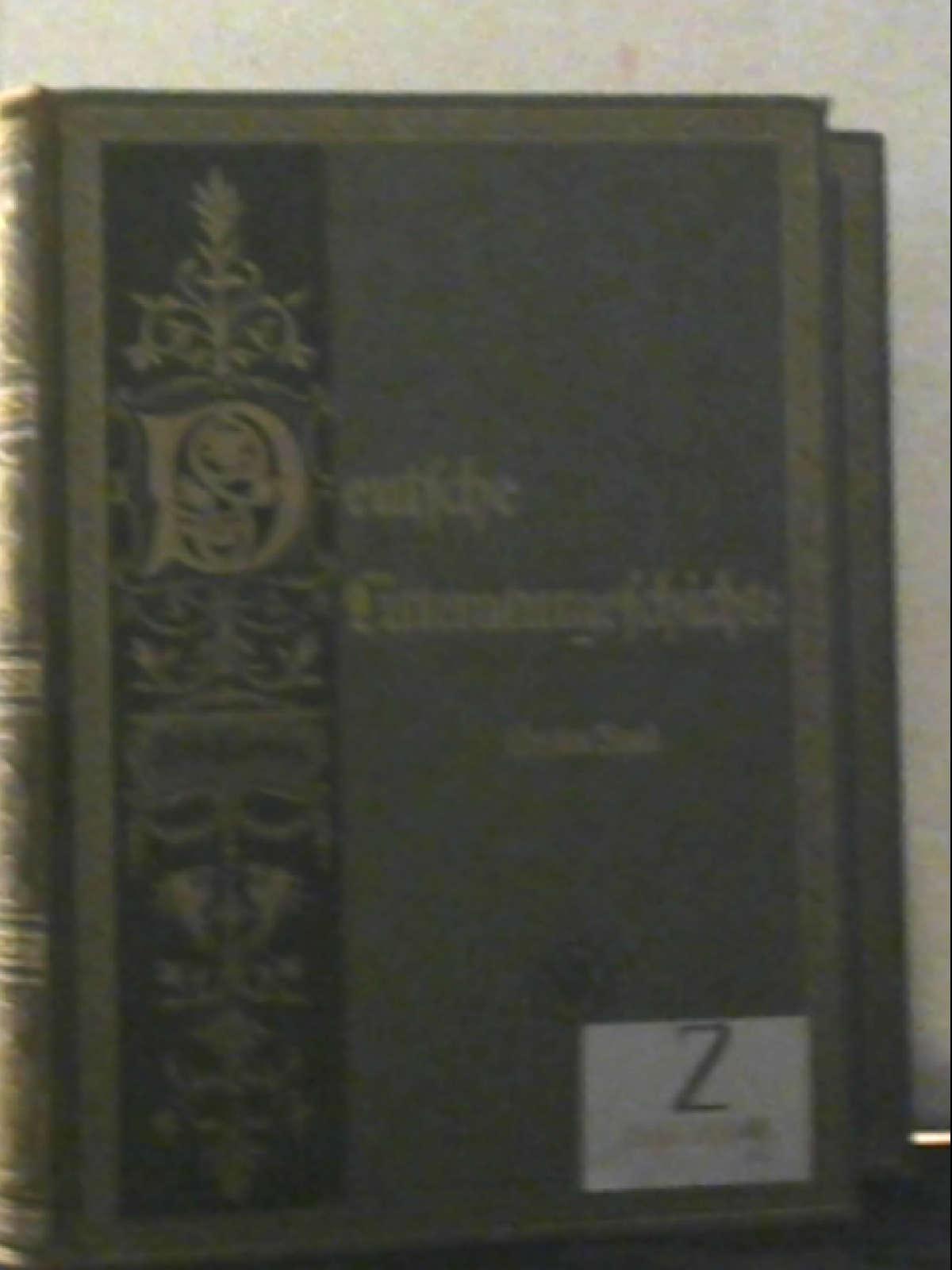 Deutsche Literaturgeschichte (Litteraturgeschichte). Band 1 und Band: Robert - herausgegeben