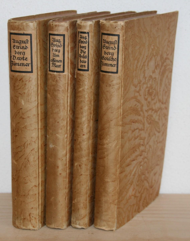 4 Bücher: Die gotischen Zimmer. Die Inselbauern.: Strindberg, August und