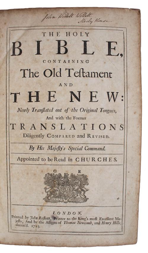 Mark Baskett Holy Bible Used Abebooks
