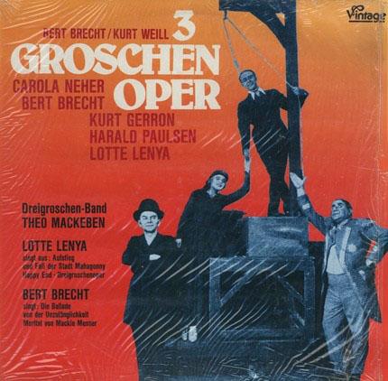 3 Groschen Oper. Langspielplatte (LP).: Bert Brecht u.