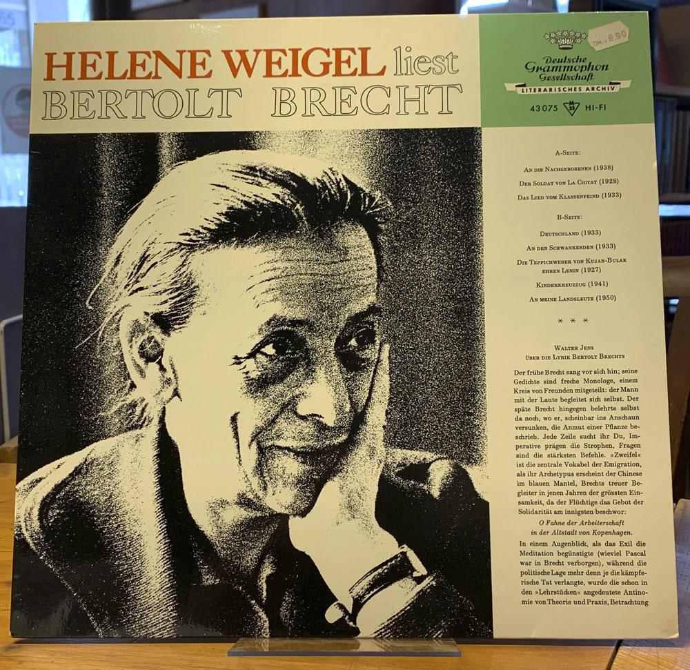 Liest Bertolt Brecht. Langspielplatte (LP).: Weigel, Helene