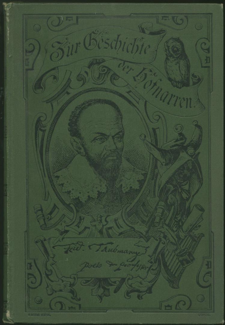Friedrich Taubmann. Kulturbild. 3. Auflage.: Ebeling, Friedrich Wilhelm: