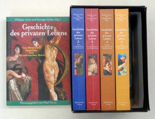 Geschichte des privaten Lebens. [5 Bde.; komplett].: Ariès, Philippe u.