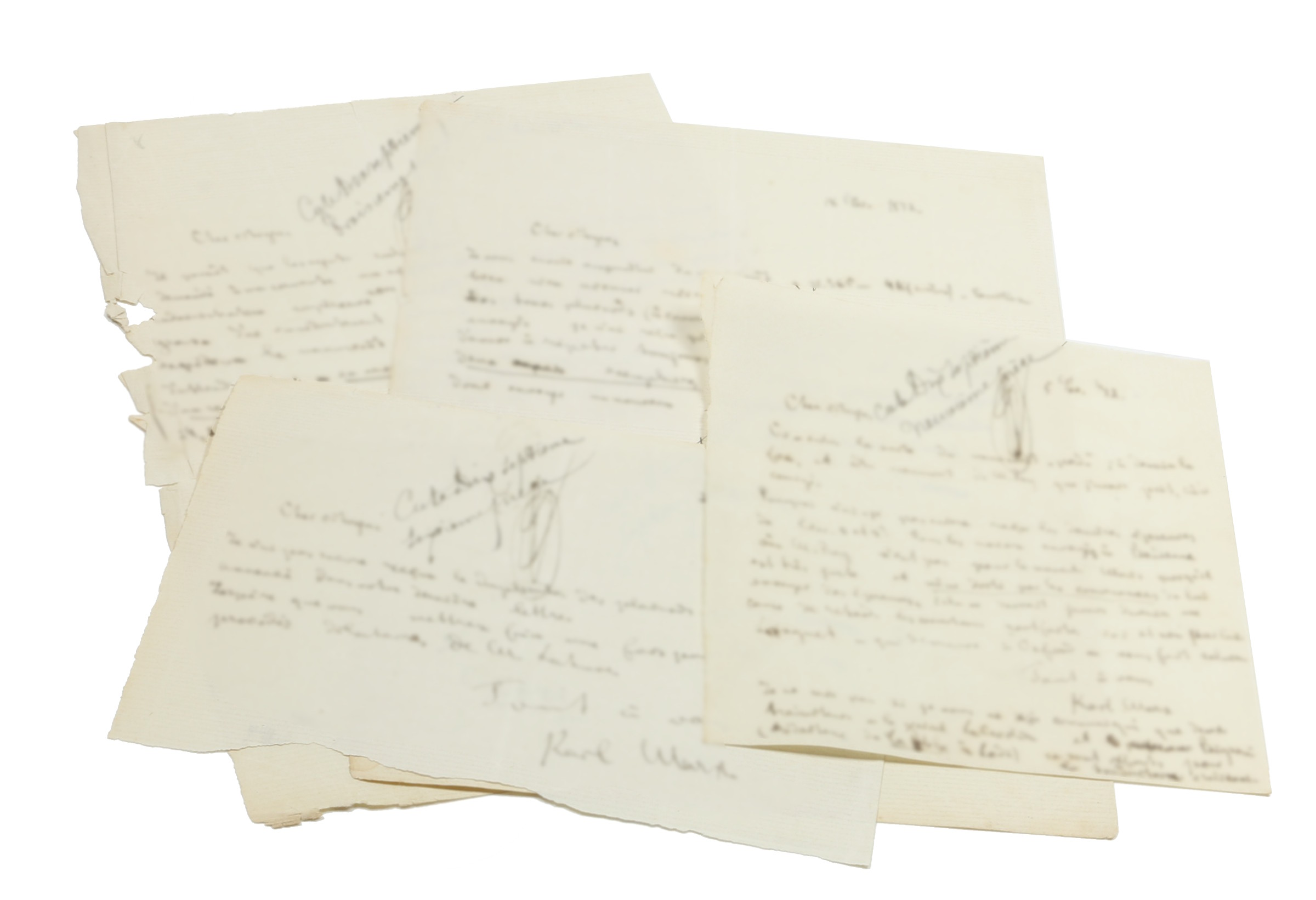 4 autograph letters signed.: Marx, Karl, philosopher