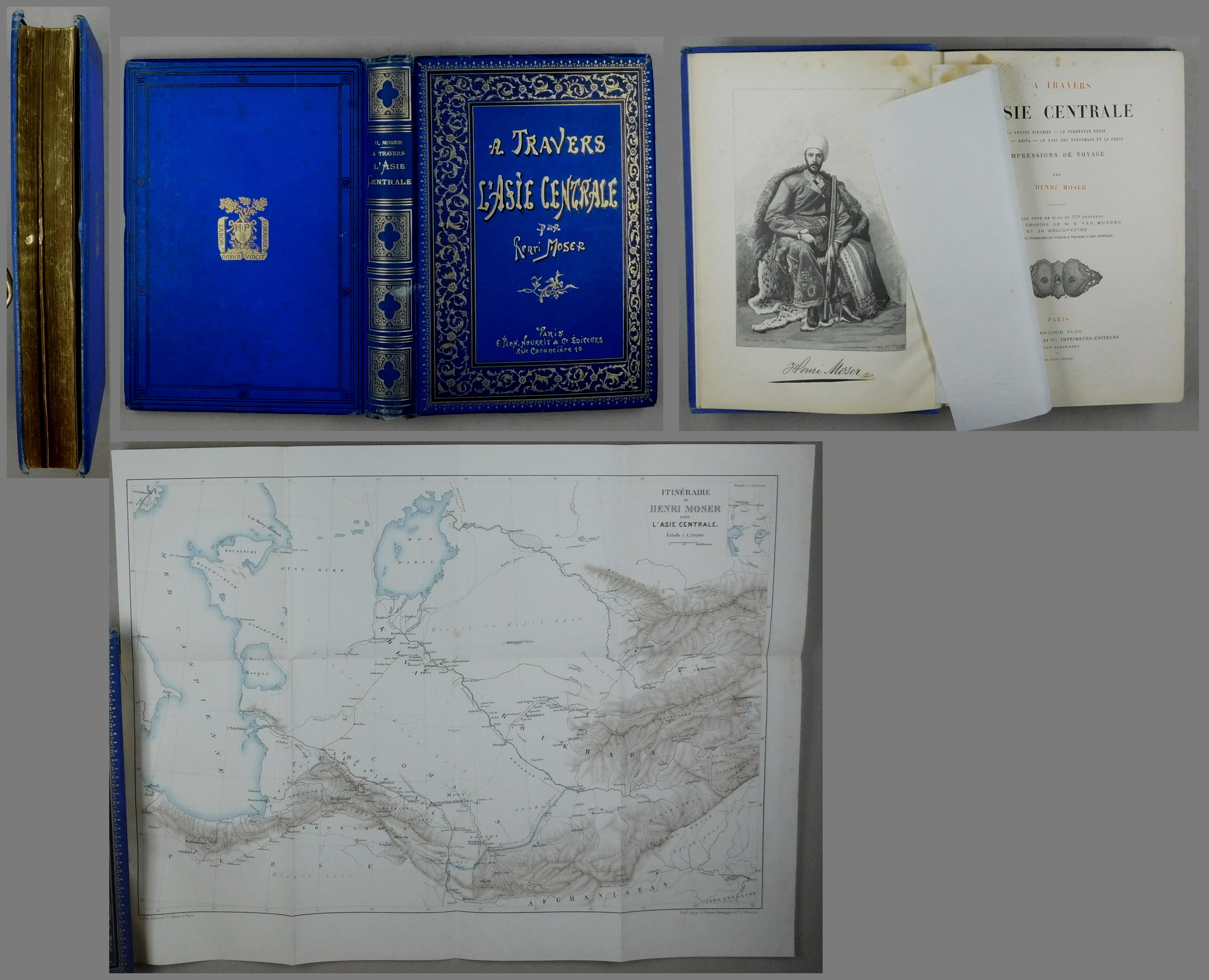 A Travers l'Asie Centrale. La Steppe Kirghize: Moser, Henri: