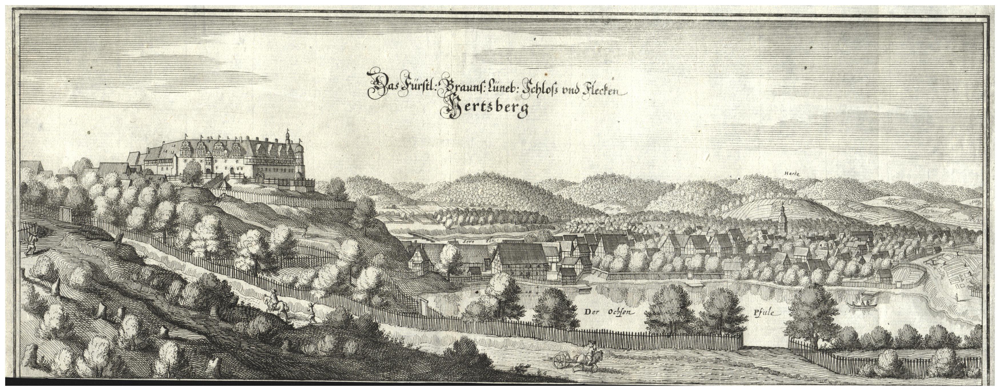 Gesamtans., m. d. fürstl. Schloß.: Herzberg Am Harz: