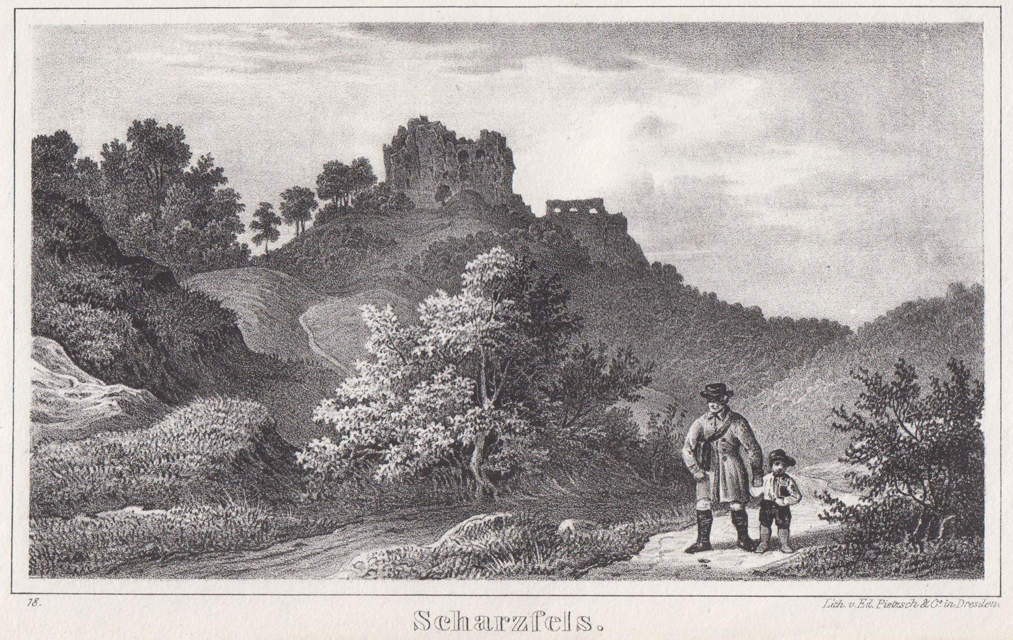 Ruine Scharzfels.: Herzberg Am Harz: