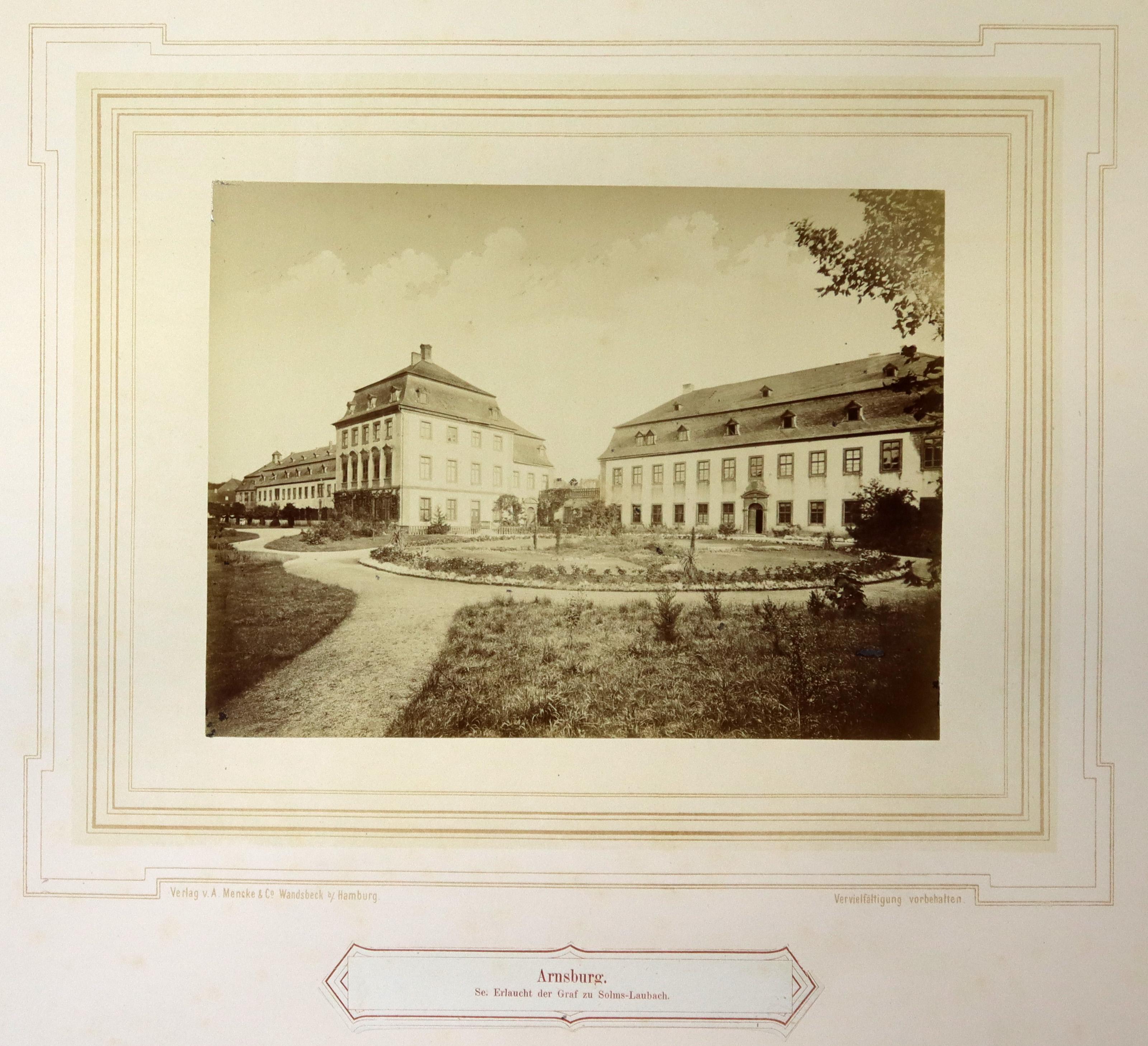 """Kloster Arnsburg, """"Arnsburg. Se. Erlaucht der Graf: Lich - Arnsburg:"""