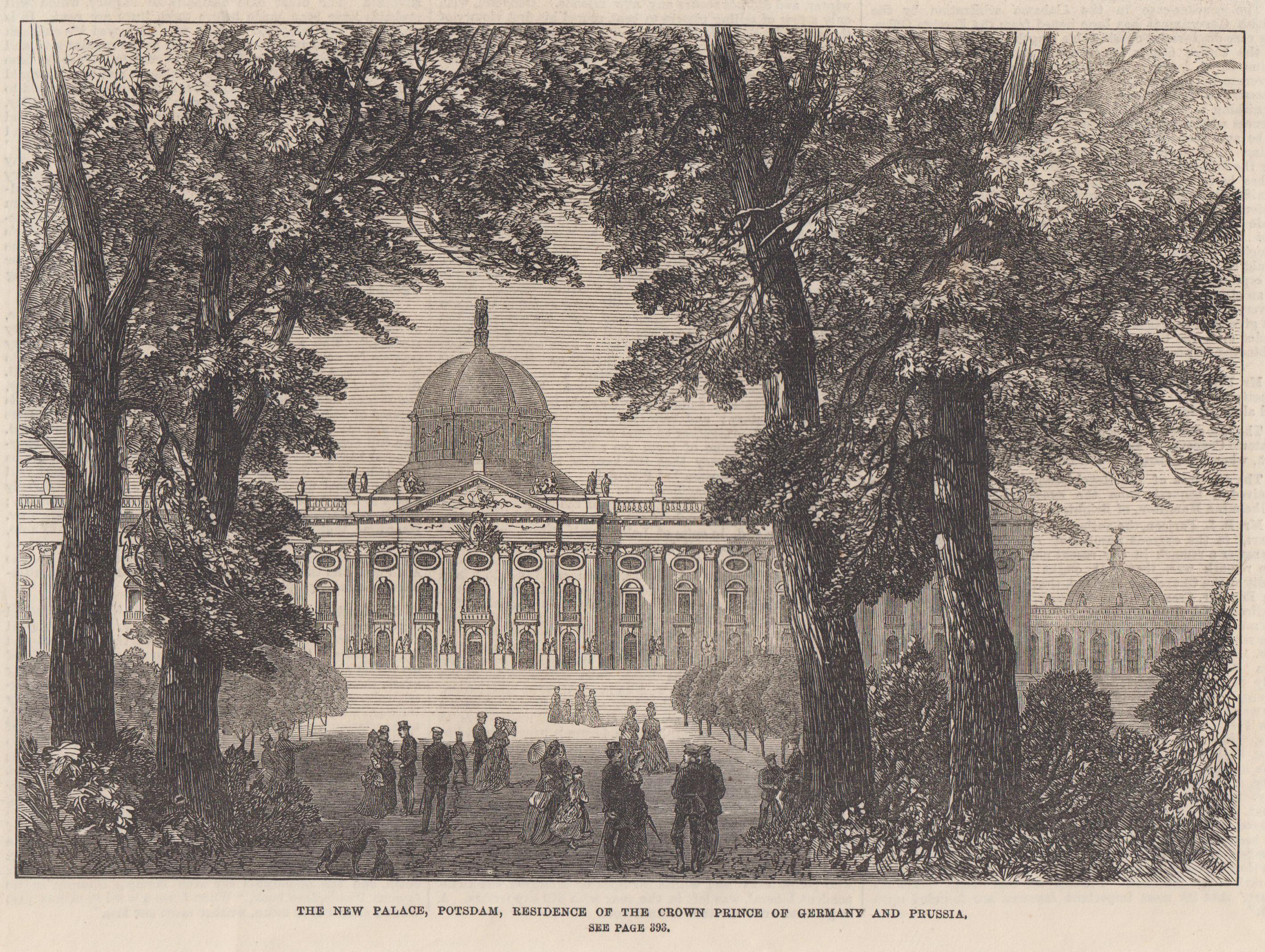 "Neues Palais, ""The New Palace, residence of: Potsdam - Park"