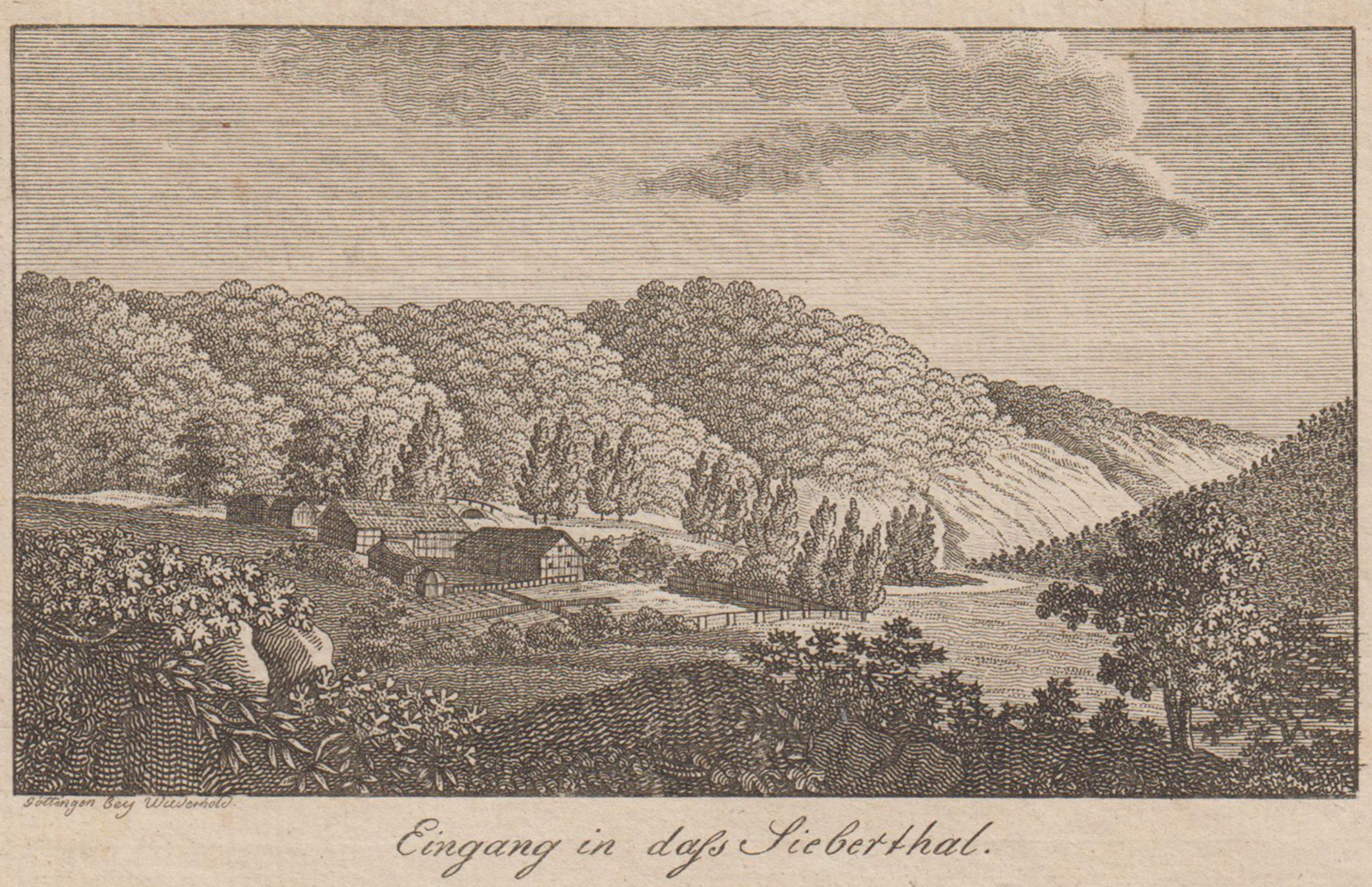 """Blick auf den """"Eingang in dass Sieberthal"""".: Herzberg Am Harz:"""