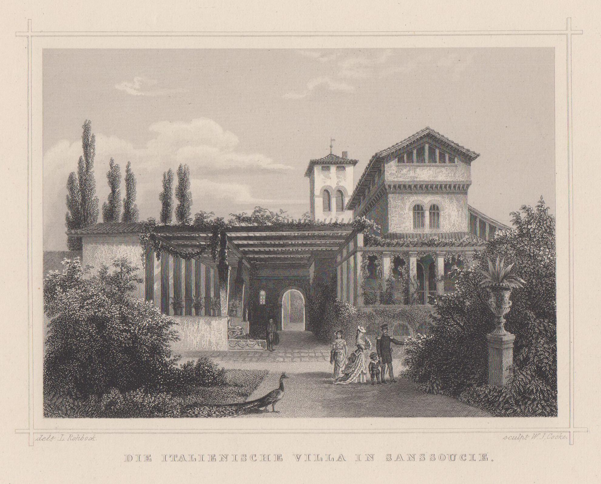 """Römische Bäder im Park Charlottenhof, """"Die italienische: Potsdam - Park"""
