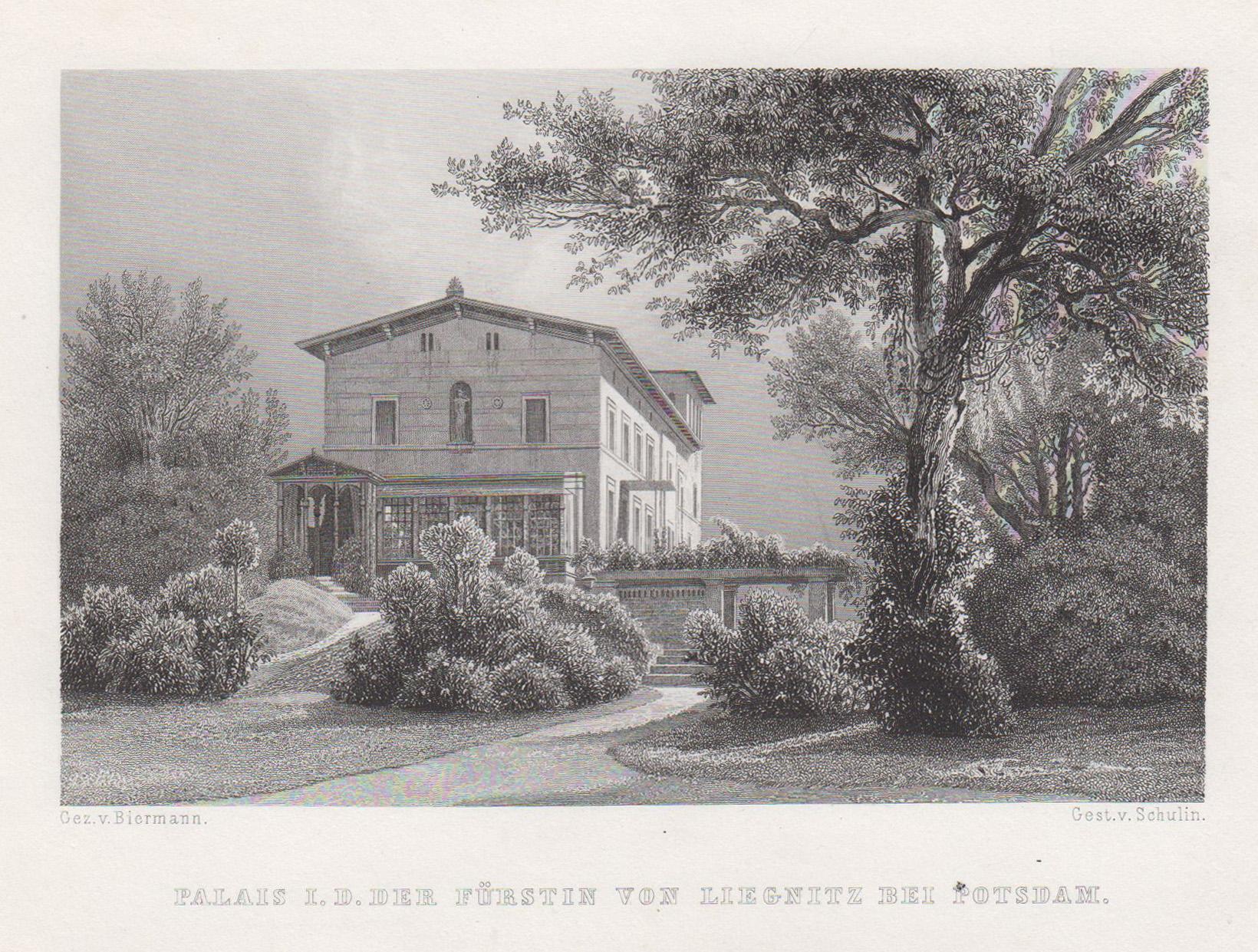 """Villa Liegnitz, """"Palais I.D. der Fürstin von: Potsdam - Park"""